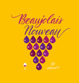 beaujolais nouveau concept abstract poster vector image