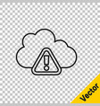 black line storm warning icon isolated on vector image vector image
