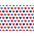 blue and red heart shape pattern vector image vector image
