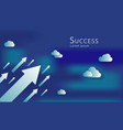 business arrows concept to success growth chart vector image vector image