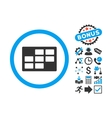 Calendar Table Flat Icon with Bonus vector image vector image