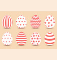 cartoon set of easter painted eggs vector image vector image