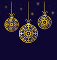 christmas balls ornaments xmas decoration vector image