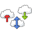 clouds with arrows set vector image