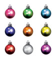 colorful christmas holiday ornaments isolated vector image