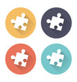 colorful puzzle icons with long shadows vector image