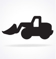 earthmover digger silhouette simplified vector image