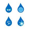 four drop symbols set vector image vector image