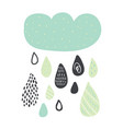 funny colorful drops of rain clouds vector image vector image