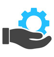 gear service hand icon vector image