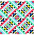 geometric pattern with colorful elements vector image vector image