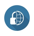 Global Security Icon Flat Design vector image vector image