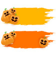 halloween web grunge banner or poster with vector image