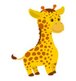 hand drawn giraffe natural colors vector image