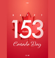 happy canada day poster design for 1st july vector image vector image