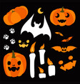 happy halloween design elements halloween vector image vector image