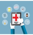 Health Care Modern Flat Concept Background vector image vector image