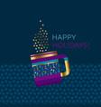 hot coffee or glue-wine xmas design element vector image