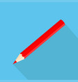 icon square shape icons of red pencil in flat vector image vector image