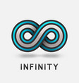 infinity abstract blue sign design element vector image vector image