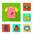 isolated object of fashion and garment symbol set vector image