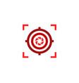 lens target logo icon design vector image vector image