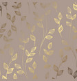 luxury golden floral pattern on a brown vector image vector image