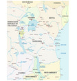map great african lakes vector image vector image
