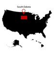 map of the us state of south dakota vector image vector image