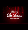 merry christmas and new year xmas background vector image vector image