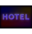 Neon hotel Hotel neon sign design for your vector image
