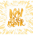 New year gold glitter concept hand lettering vector image