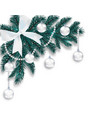 new year s christmas a blue branch of a christmas vector image vector image