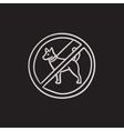 No dog sign sketch icon vector image