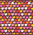 olor heart seamless pattern vector image vector image