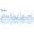outline berlin skyline with blue buildings and vector image