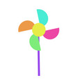 pinwheel or windmill toy spinning flat vector image vector image