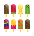 popsicle ice cream flat vector image