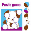 puzzle for toddlers children educational game vector image vector image