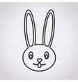 rabbit image icon vector image