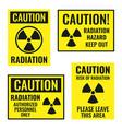 radiation danger sign set radioactive hazard vector image