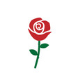 red rose icon images vector image