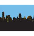 Retro Classic City Skyline vector image vector image