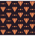 Retro seamless pattern with diamonds and dots vector image