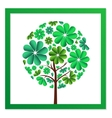 Round tree of green flowers vector image vector image