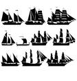 Sailing ships 2 vector image vector image