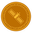 satellite digital coin vector image vector image