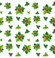 seamless background template with mistletoes vector image