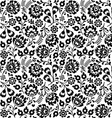 Seamless Polish folk art black floral pattern vector image vector image