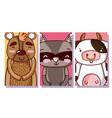 set of cute animals cartoon vector image vector image